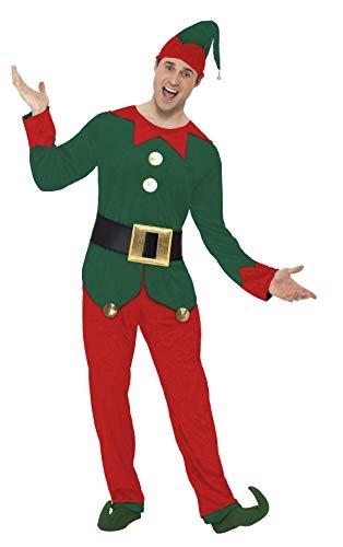 Smiffys Kostüm Kobold Rot und Grün mit Oberteil -