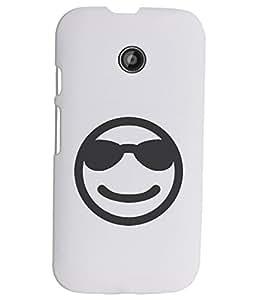 KolorEdge Back Cover For Motorola Moto E - White (1885-Ke15099MotoEWhite3D)