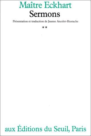 Sermons, t.II par Maître Eckhart