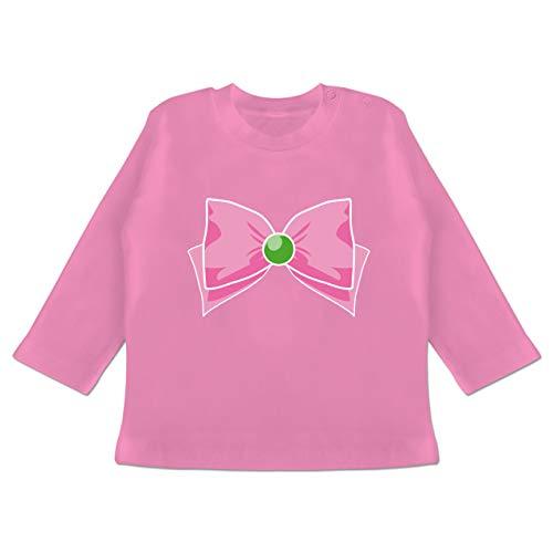 Karneval und Fasching Baby - Superheld Manga Jupiter Kostüm - 18-24 Monate - Pink - BZ11 - Baby T-Shirt Langarm (Pink Supergirl Kostüm)
