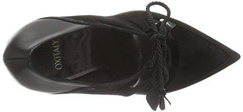 Oxitaly rubelle 13, Scarpe Col Tacco Donna Nero (Nero (Nero))