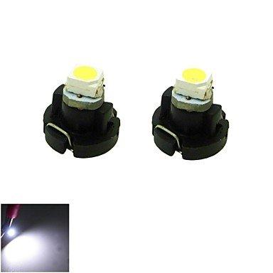 T3LED 0.2W 1x 3528SMD Blanc lumière Cluster de tableau de bord voiture jauges Instrument ampoule lampe (DC 12V,