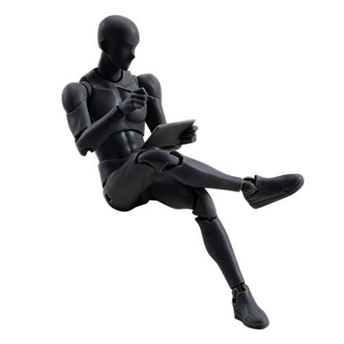 YA-Uzeun Zeichnungsfiguren für Künstler Actionfigur Modell menschliche Mannequin Mann Frau Kits (A:Schwarz) Pole Mount Adapter Kit