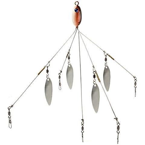Andux Pesca Señuelos Grupo Accesorios Alabama Cinco de las lentejuelas con señuelos cebo Disponible F-CG-01 (Cabeza roja de los