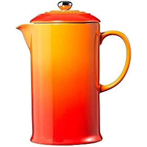 Le Creuset 9102820009 - Cafetera de émbolo, 1 l, color rojo y naranja