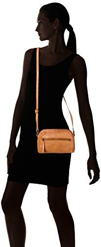 Legend Damen Alcamo Clutch, 6x18x24 cm Braun (Camel)