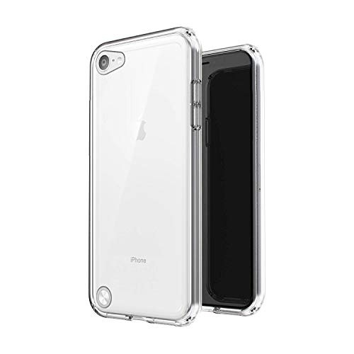 Plus Transparent Case (Hard Back & Soft Bumper Cover) with 8 Foot Drop Protection & Shock Absorbing Bumpers Case for Apple iPod Touch 6 / Touch 5 - Transparent