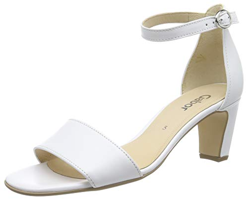 Gabor Shoes Damen Fashion Riemchensandalen, Weiss 21, 38 EU -