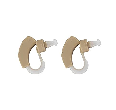 Hearing Amplifier - Set of 2 - Aid your Hearing - Behind the Ear Digital Device With Protective Case - Non Rechargeable - Aids With Hearing Impaired and Loss - Helps Mask Tinnitus - Resounding Technology Will Aid with Voice Clarity - High Quality and More Affordable than Lyric, Ite, Siemens, Phonak, Oticon, Starkey and
