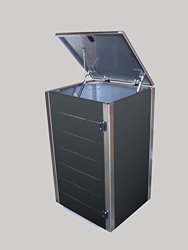 Gero metall Mülltonnenbox Eleganza Line für eine 240 Liter Mülltonnen in Anthrazit