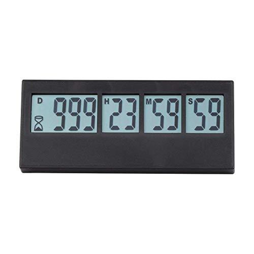 IrahdBowen Timer Digitale Ereigniserinnerung Timer Countdown Uhr LCD-Bildschirm Alarm Für Hochzeit Ruhestand Labor Kochen Küchentimer -