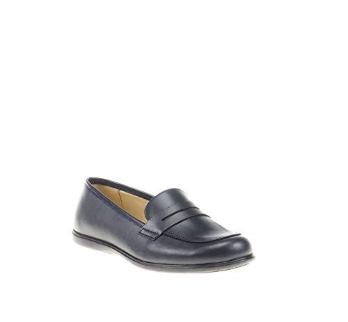 Mocasines para niñas Fabricado en Piel. Zapatos Colegiales cómodos y con Detalle de Antifaz - Mi Pequeña...