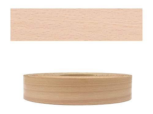 Mprofi MT® (10m Rolle) Echtholz Kantenumleimer Umleimer Furnier Buche gedämpft SK mit Schmelzkleber zum Aufbügeln 22mm Breite BK1022