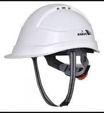 Karam Safety Helmet PN-542 SHELBLAST WITH PEAK HAVING PLASTIC CRADLE - White