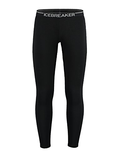 Icebreaker Herren Leggings Oasis, black, S, 100481001 (Outdoor-wolle-hose)