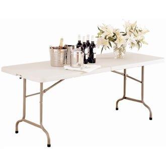 Bolero L001Mitte Klapptisch, 1,8m, 6', weiß (6' Tabelle)