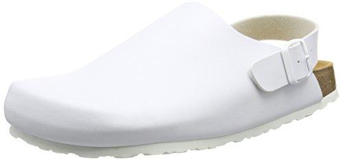 Homens Lico Bioline Entupir Clássico Chinelos Planas Branco (branco)