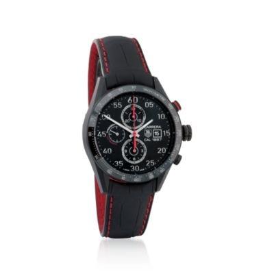 Tag Heuer Herren Carrera schwarz Titan Automatik Chronograph