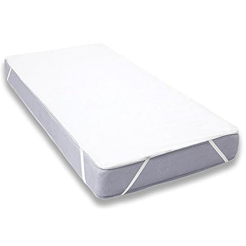 Uniento® Protège Matelas alèse Imperméable pour Lit de Blanc ( 140x200 - 140x190 cm)