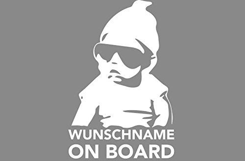 Baby on Board Aufkleber mit Wunschname Aufkleber Sticker Decal Auto Autoaufkleber
