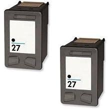 Prestige Cartridge HP 27 Pack de 2 cartuchos de tinta para HP Officejet/Deskjet/Fax Serie, negro