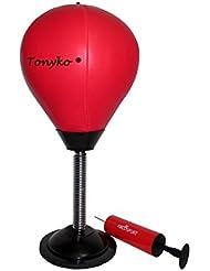Tonyko Antiestrés. Velocidad de sobremesa Punching ball con bomba