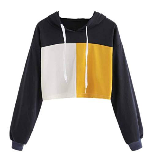 iHENGH Sweatshirt, Damen Hoodie Sweatshirt Jumper Pullover Crop Top Pullover Tops ()