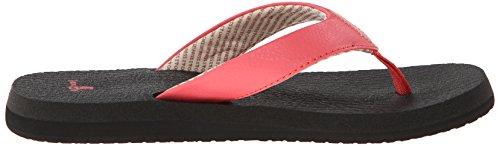 Sandales pour femme sanuk orteils yoga mat-sandales pour femme sanük de pastèque Rouge