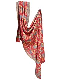 Kabello Jacquard Fabrics Winter Use Woolen Woven Soft Shawls For Women, 45 Grams, Pack Of 1