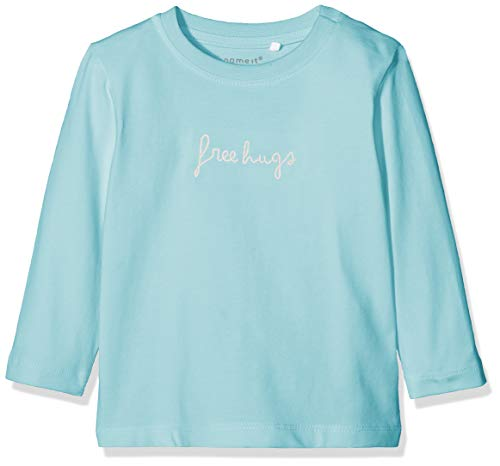 Name IT NOS Unisex Baby Sweatshirt NBNDELINUS LS TOP, Blau (Canal Blue), (Herstellergröße: 50)