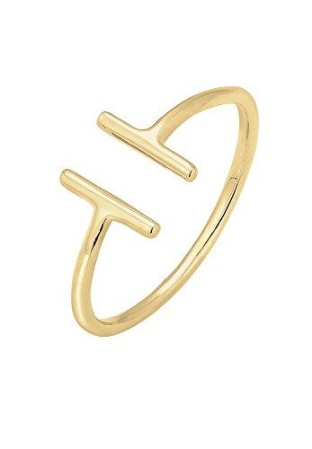 Elli Damen Ring Geo Déclaration, Gelbgold, 56 (17.8), 0610491915_56 (Gold Schmuck Ringe 14k)