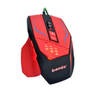 Wired Gaming Maus, 6Tasten 1600dpi LED optische USB Professionelle Gamer Gaming Maus Cool Laptop Computer PC notebook-red