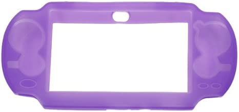 Imported Soft Silicone Protective Skin Case Back Cover Guard for Sony PS Vita - Purple