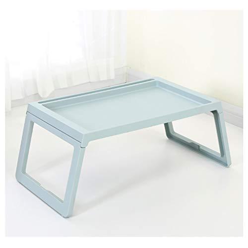 ZZDZ Klapptisch, Multifunktions Mobile Klapptisch Bett Laptop Tisch Haushalt (Color : Blue A) - Falten Pp-wand