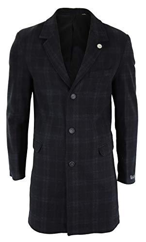 TruClothing.com Herrenjacke 3/4 Länge Crombie Mantel Peaky Blinders Design Slim Fit