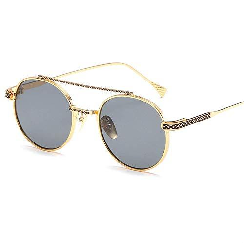 leihao888 Sonnenbrille Metall Mode Sonnenbrille Herrengradientenlinse Vintage-sonnenbrille Dampf Uv400 Shadow Sonnenbrille 1