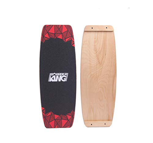 BoarderKING Indoorboard Limited Edition RED Skateboard Surfboard Trickboard Balanceboard Balance Board (Wakeboard, 150mm x 45 cm (Kork))
