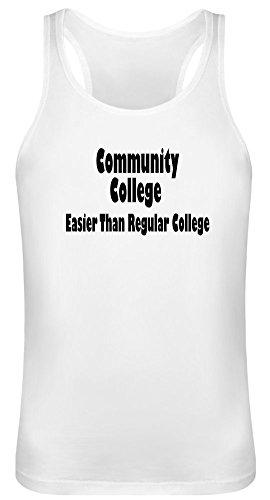 Community College einfacher als reguläre Hochschule - Community College Easier Than Regular College Tank Top T-Shirt Jersey for Men & Women 100% Soft Cotton Unisex Clothing X-Large - College Womens Tank Top