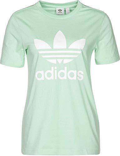 adidas Damen Trefoil Tee T-Shirt, grün (verrub), 30 (Herstellergröße: 36) -