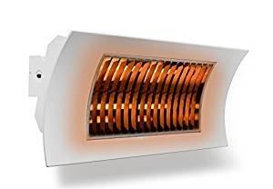 farho Infrarot Heizstrahler Terrasse OASI Weiß ··· Terrassenstrahler Elektrisch Infrarot für den Außenbereich ··· Deckenheizstrahler mit Fernbedienung nebst · 1000/2000 Watts · Gartenheizung