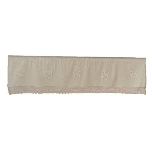 Homyl delicata tende corti della finestra casa fashions cotone lino finestra tier cucina sipario mantovane - beige, 45 * 180cm