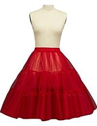 Sunvary Women's 50s Vintage Rockabilly Tutu Skirt Petticoat Underskirt