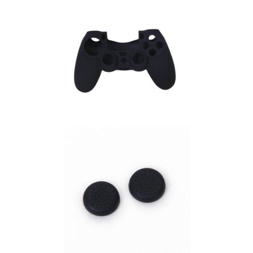 2x Tapas Para PS4 Mando Controlador + Silicona Carcasa Funda Para PlayStation 4 319OXdduL1L