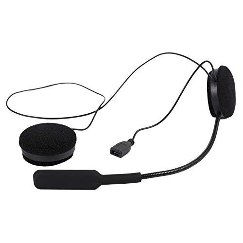 TOOGOO Cuffie per Casco da Moto, Cuffia interfono Bluetooth, Cuffie Senza Fili Cuffie, Altoparlanti Vivavoce (Nero)