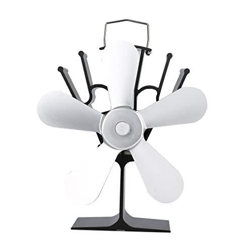Eco-freundliche Linie (STARKWALL Thermal Power Fireplace Fan Heat Powered Wood Stove Fan Für Wood/Log Burner/Fireplace Eco Freundliche Fünf-Blatt-Fans 2)