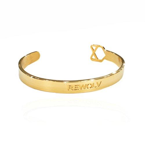 REWOLV – Armband aus Edelstahl in den Farben rosegold/gold/silber | für Damen und Herren | verstellbar in der Größe | Armreif | Rose Schmuck | Damen-Armband | Frauen | Charm | Geschenk-Verpackung