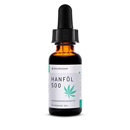 NEUROGAN´s 500MG/ 30ml Hanfextrakt aus CO2 Extraktion/gesund, natürlich, vegan & ergiebig für IHR Wohlbefinden, innere Balance, gesunden Schlaf/Mint-Geschmack (500MG auf 30ml) ohne THC