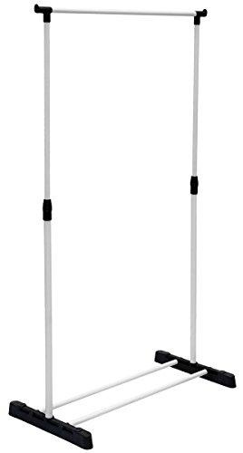 Eyepower Kleiderständer mit Schuhablage Garderobenständer Kleiderstange Verstellbare Höhe 90-155cm Schwarz Weiß (Verstellbare Kleine, Kleid)