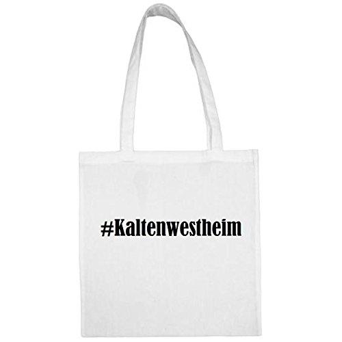 Tasche #Kaltenwestheim Größe 38x42 Farbe Weiss Druck Schwarz