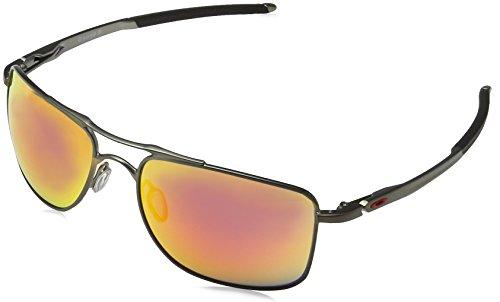 Oakley Herren Gauge 8 412403 62 Sonnenbrille, Schwarz (Matte Carbon/Rubyiridium)